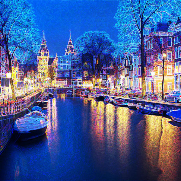 winter-amsterdam-canal-at-night-with-boats-drawing-late-evening-in-dutch-capital-michael-novik - копия